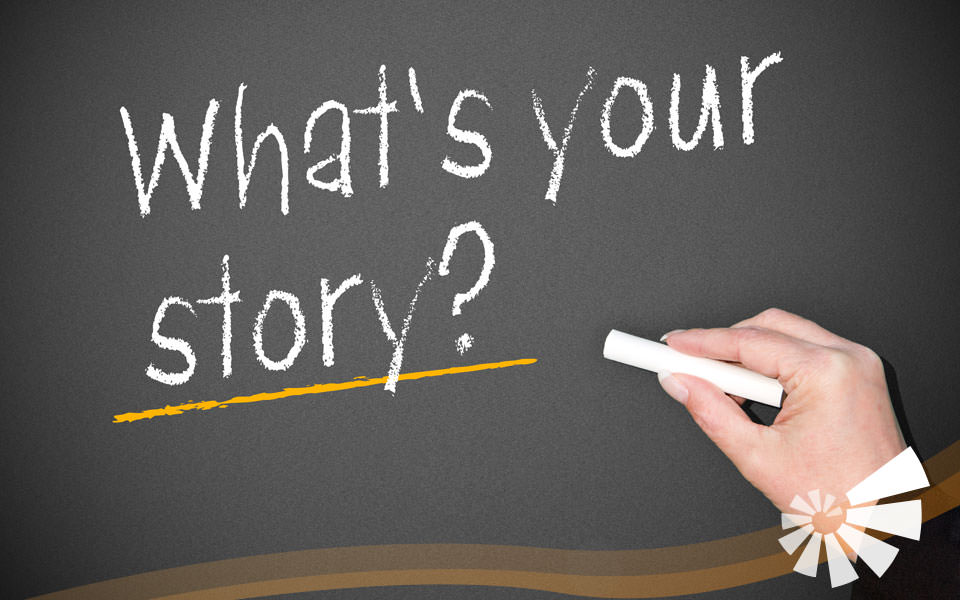 """Foto mit Schrift """"Whats your story?"""