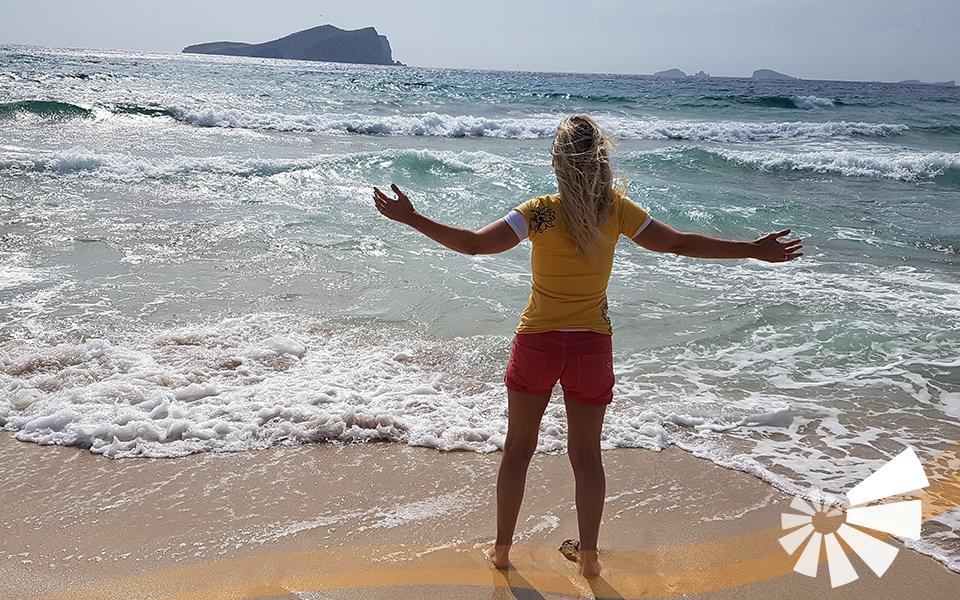 Foto von Ibiza Strand Frau