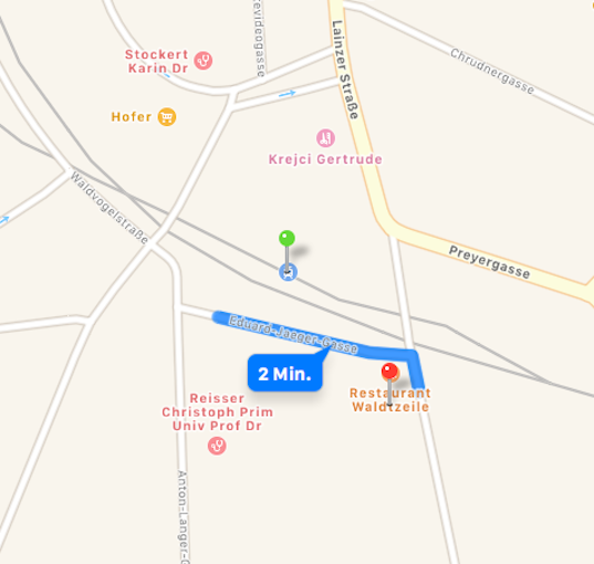 Übersichtsplan Speisinger Straße 4