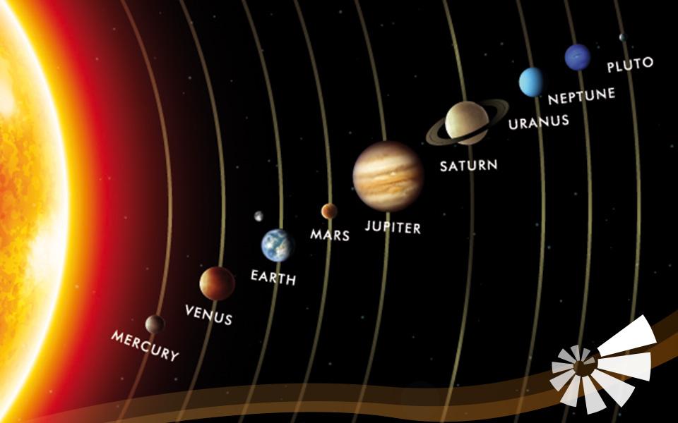 Abbild Sonnensystem mit Planeten